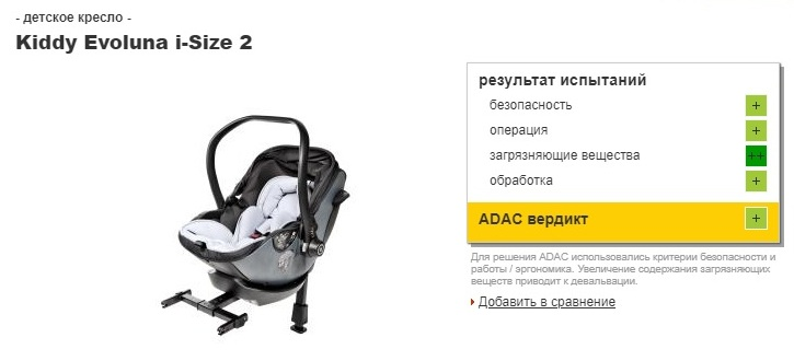 краш-тест автокресла Kiddy Evoluna i-Size 2 с базой Isofix