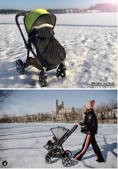 коляска kiddy зимой