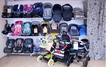 выставочный зад детских колясок